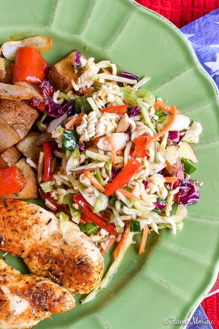 Ramen Noodle Salad (with Broccoli Slaw) ~ https ...