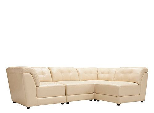 Clark 4-pc. Leather Modular | Sectional Sofas | Raymour and ...