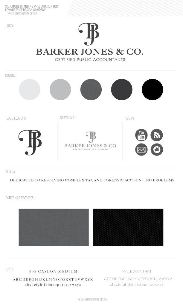 New Branding Debut!  Barker Jones & Co.  Really fond of that logo
