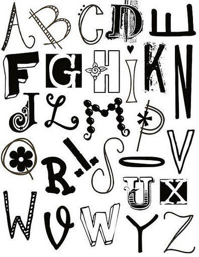 13 Imagenes de diferentes tipos de letras