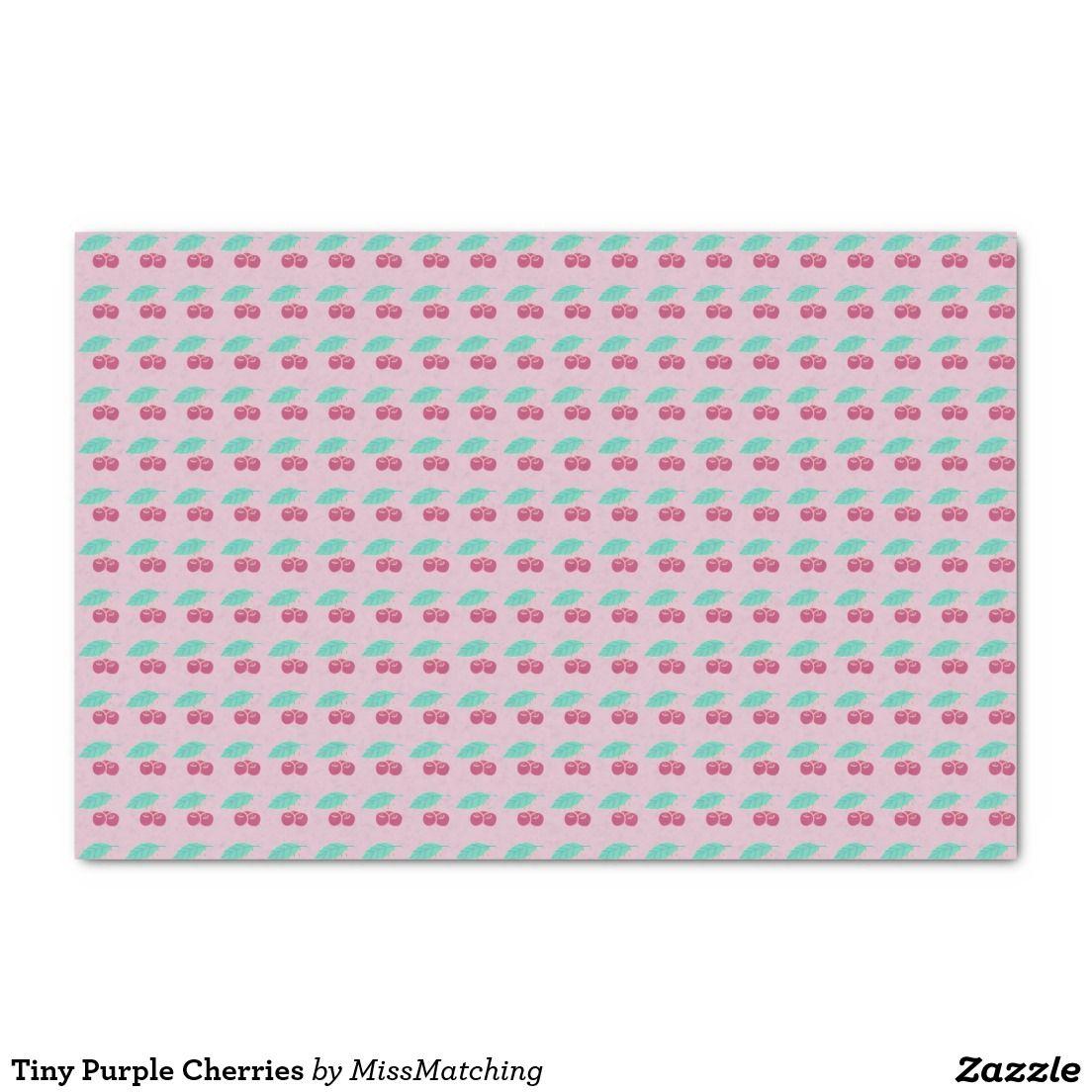 Tiny Purple Cherries Tissue Paper
