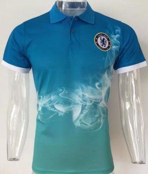 2017 Polo Jersey Chelsea Smoke Pattern Blue Shirt  AFC525 ... 7f641605b4678
