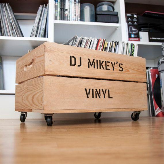 Personalized Vinyl Record Storage Record Storage Crate Storage Vinyl Storage