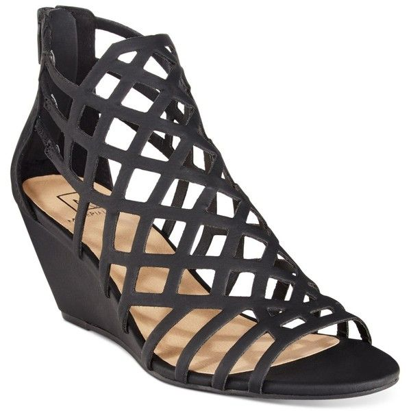 077d98489b03 Material Girl Henie Caged Demi Wedge Sandals