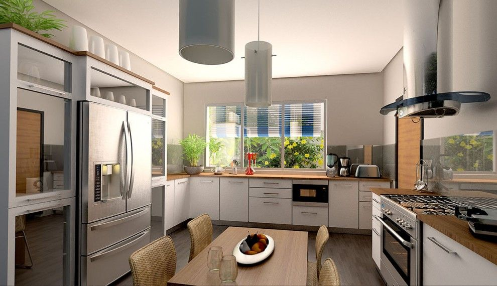 Vista cocina kitchens cocinas edificios de for Cocinas de departamentos