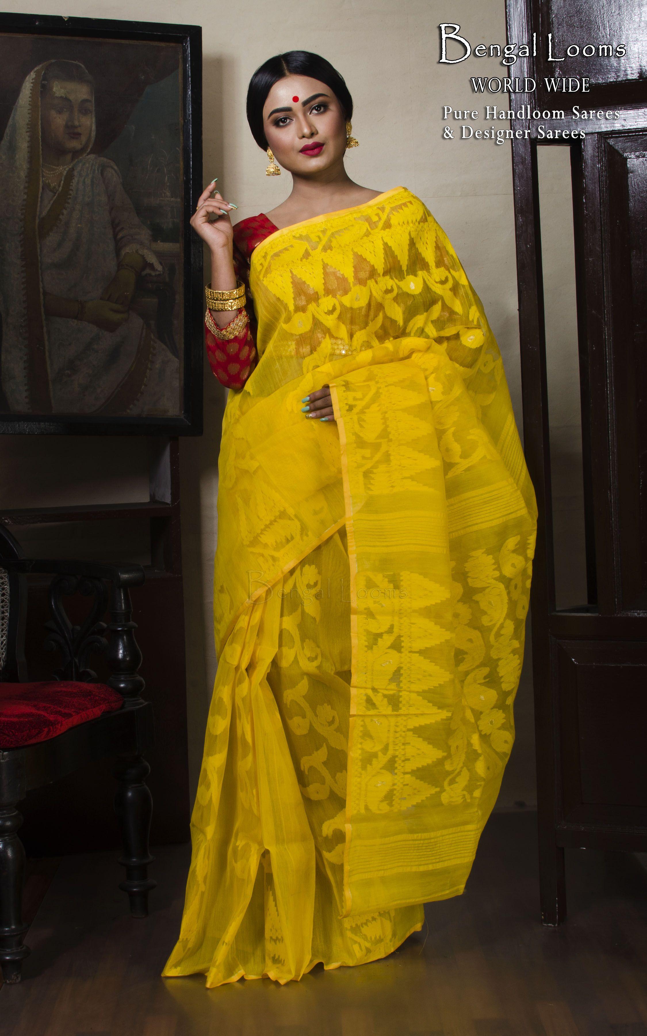 Indian Jamdani saree All over new design