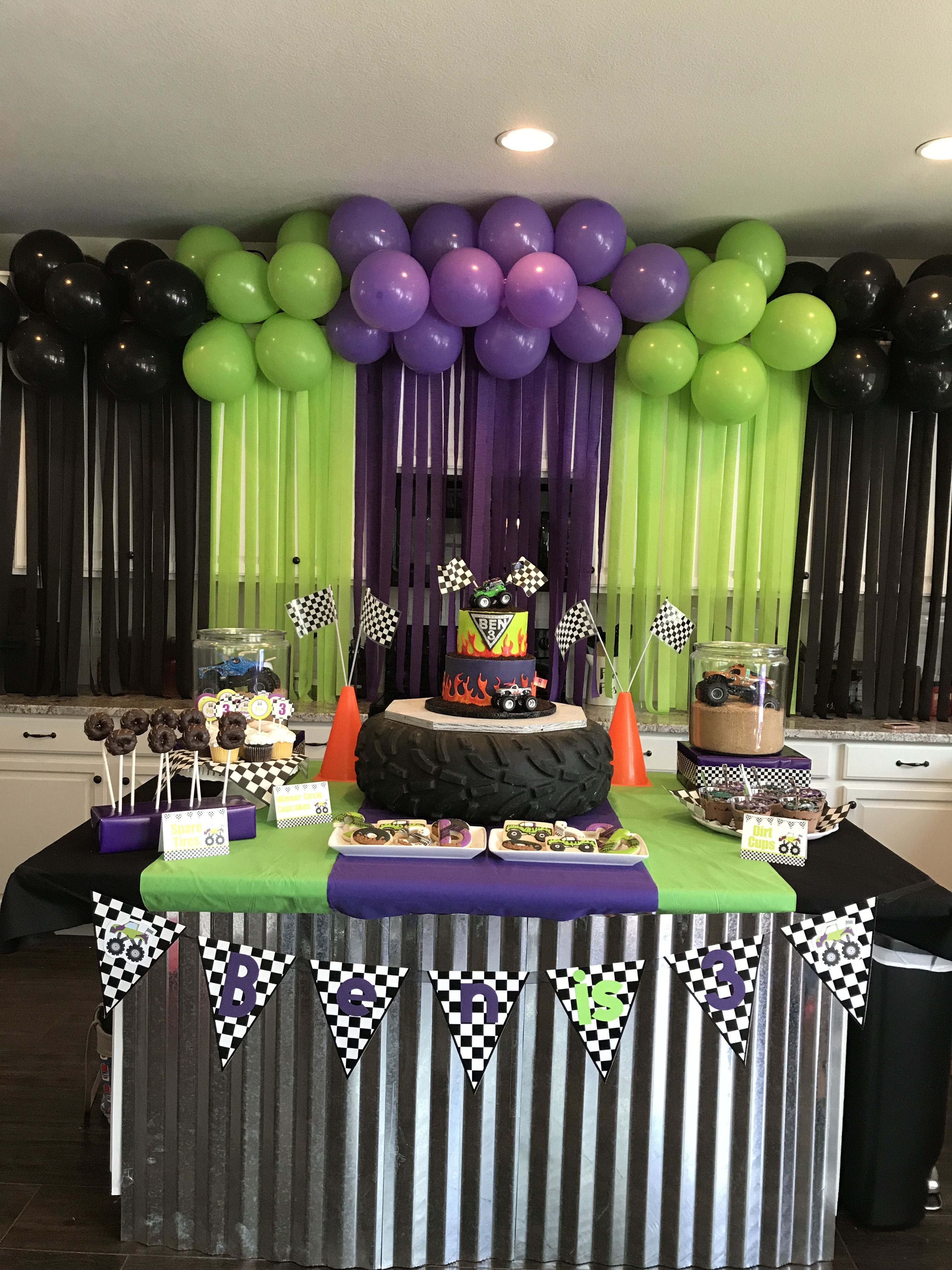 Monster Jam Birthday Party Monster Jam Birthday Trucks Birthday Party Monster Trucks Birthday Party