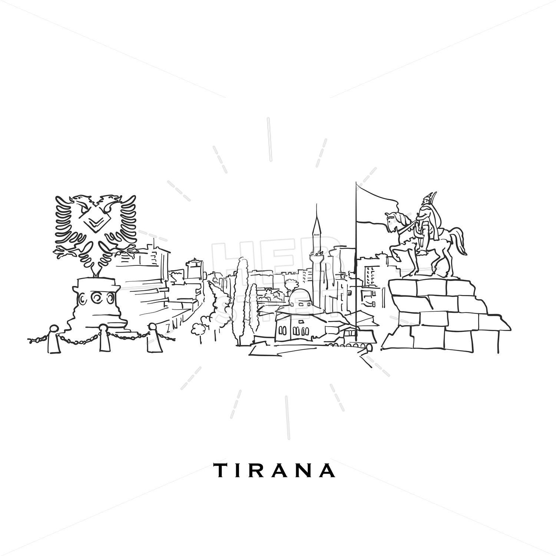 Tirana Albania Famous Architecture Hebstreits Sketches Famous Architecture Tirana Albania Tirana