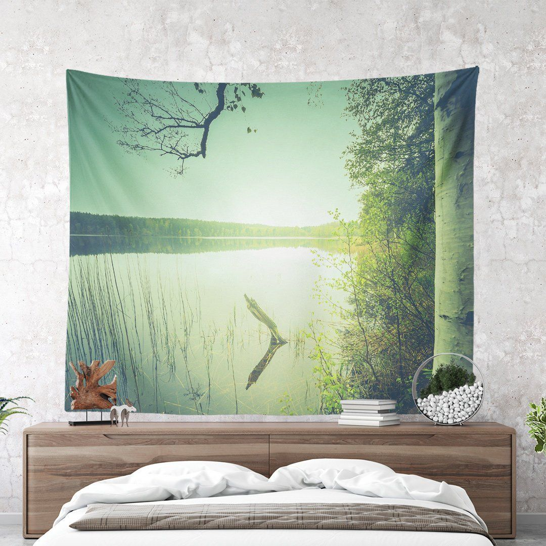 Magical Sunset Lake Wall Tapestry Nature Tapestry Colorful Wall Decor Large Wall Art Wanderlust Nature Photog Tapestry Nature Large Wall Art Wall Tapestry