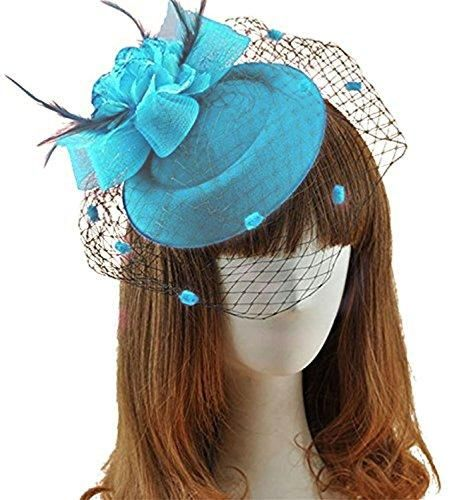 fc60889467b Fascinators Hair Clip Headband Pillbox Hat Bowler Feather Flower Veil  Wedding Party Hat