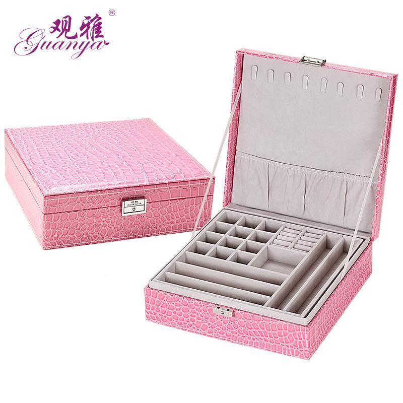 Guanya Wholesale jewelry display leather pattern casket Senior