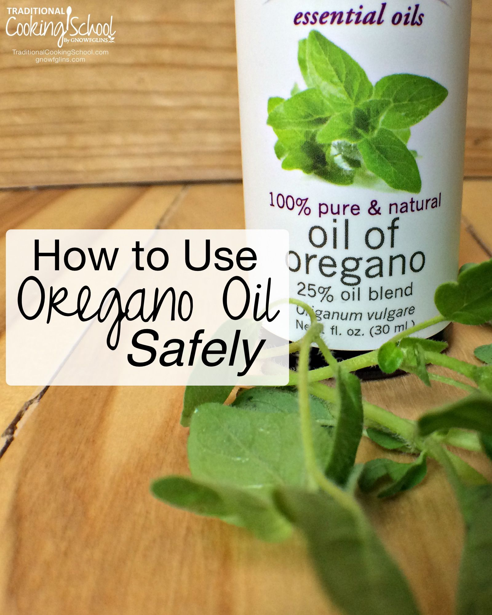 How to Use Oregano Oil advise