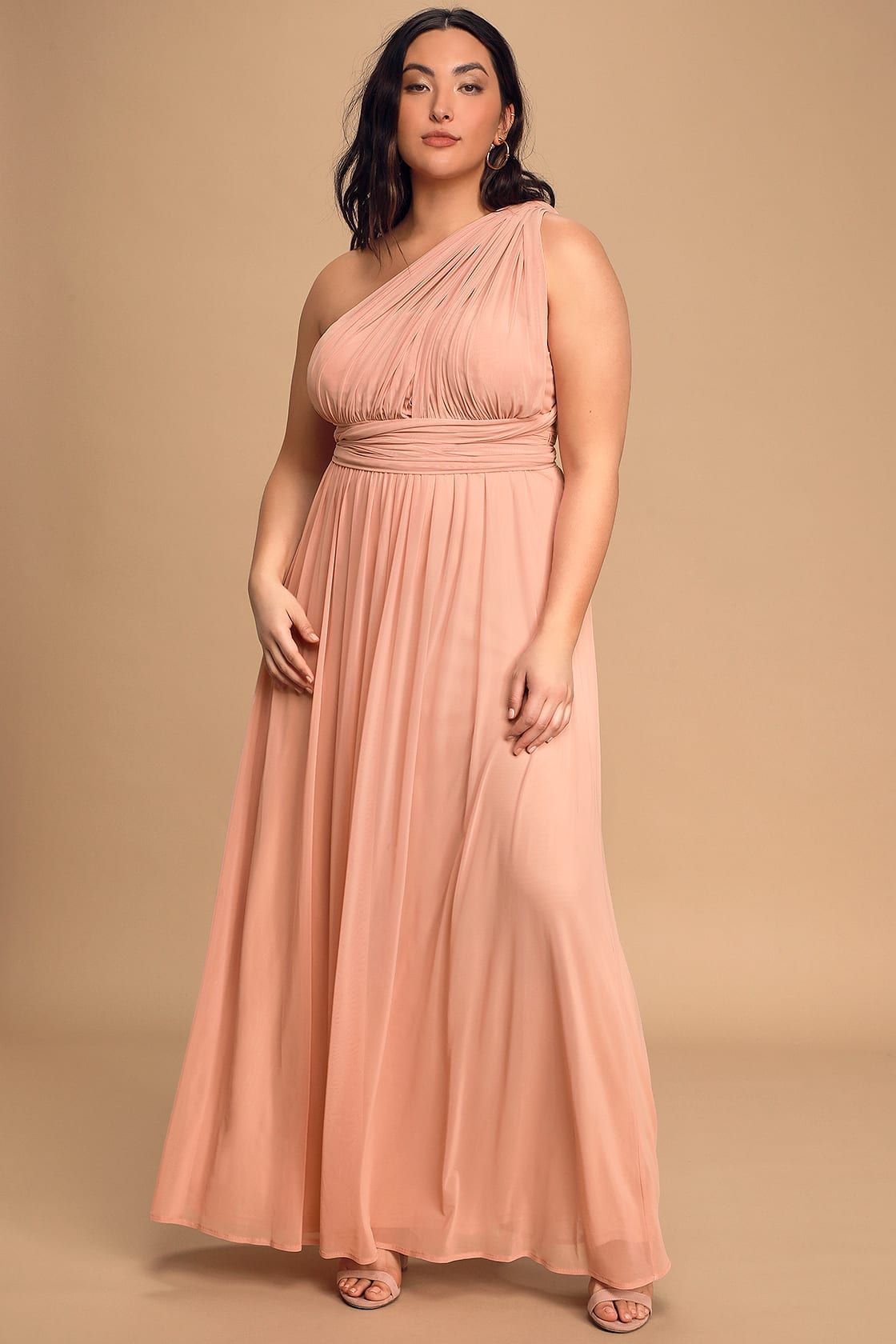 Infinitely Adored Blush Pink Convertible Maxi Dress in