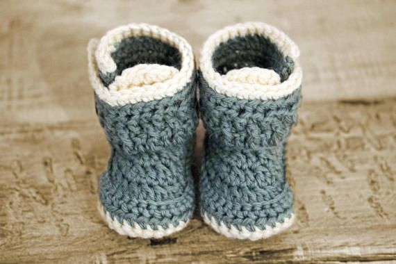 Baby Booties Crochet Pattern, Baby Boy Crochet Shoe Pattern, Baby ...