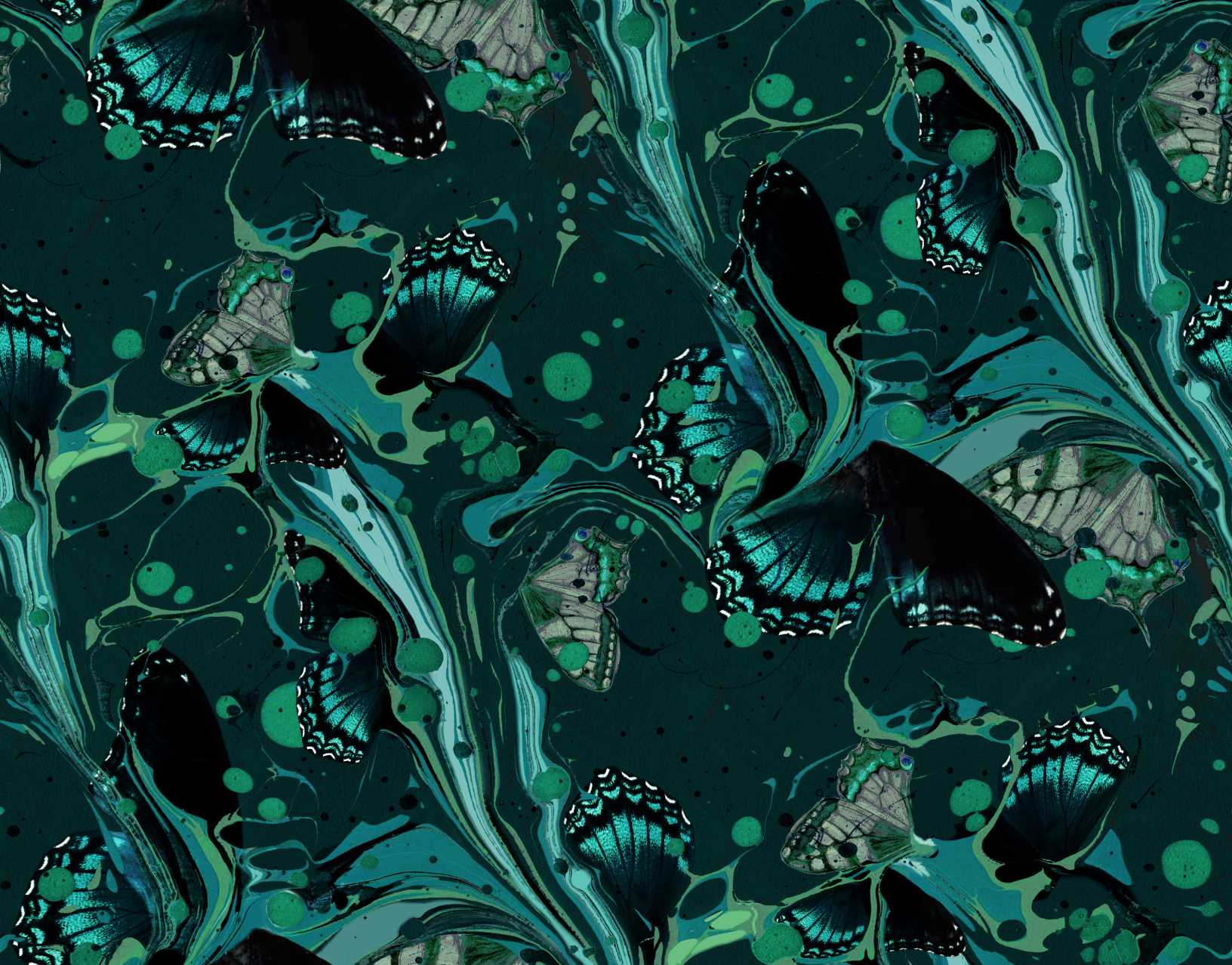 The Marble Butterfly print in jade. Introducing Matthew