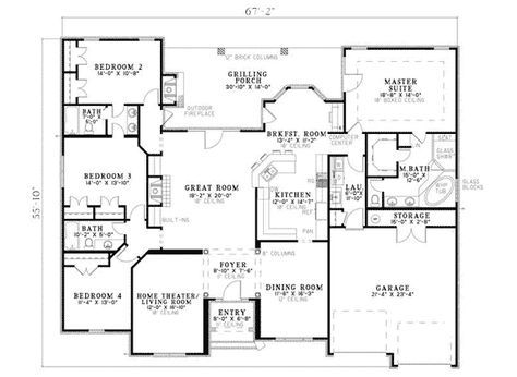 Fromberg Traditional Home House Plans One Story Country Style House Plans European House Plans