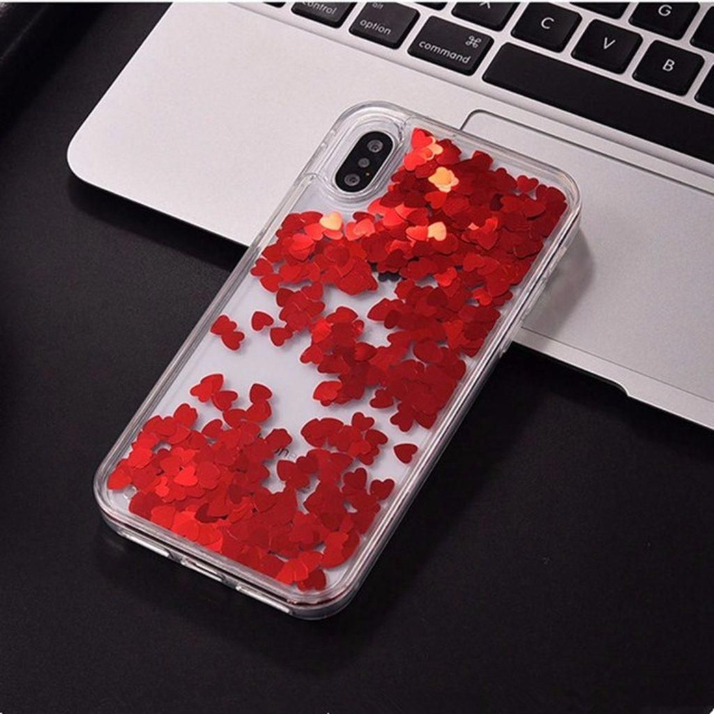 Iphone x red heart case iphone8 apple phone case