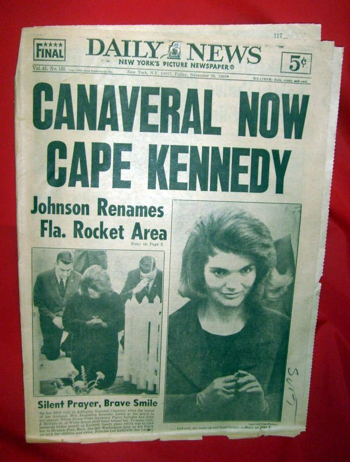 New York Daily News, Friday, November 29, 1963 Cape