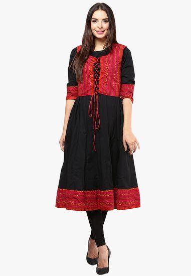da990901a3a7 Black Solid Anarkali - Nayo Kurtas & kurtis for women | buy women kurtas and  kurtis online in indium
