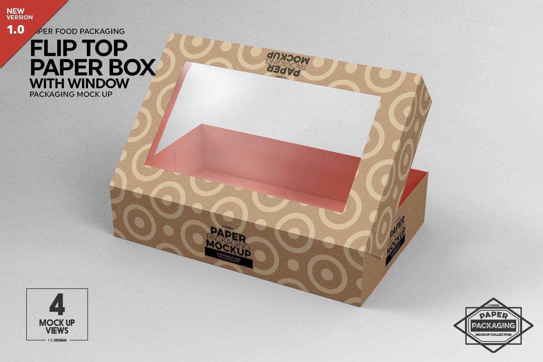 Download Flip Top Paper Box With Window Packaging Mockup 647591 Branding Design Bundles In 2021 Packaging Mockup Box Mockup Free Packaging Mockup