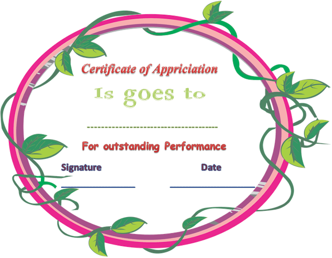 Certificate of Appreciation for Outstanding Performance Stuff to – Performance Certificate Template