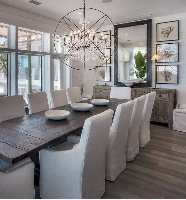 100+ Lovely and Elegant Dining Room Chandelier Lighting Ideas images