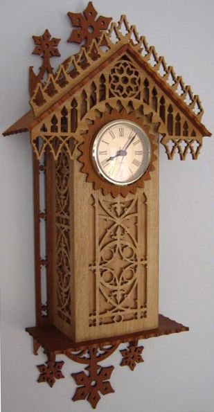 Munich Wall Clock Scroll Saw Fretwork Pattern Scroll