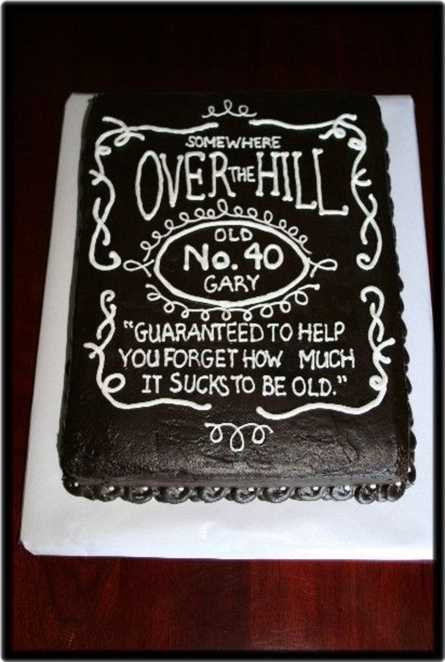 Over the hilljack daniels label with images birthday