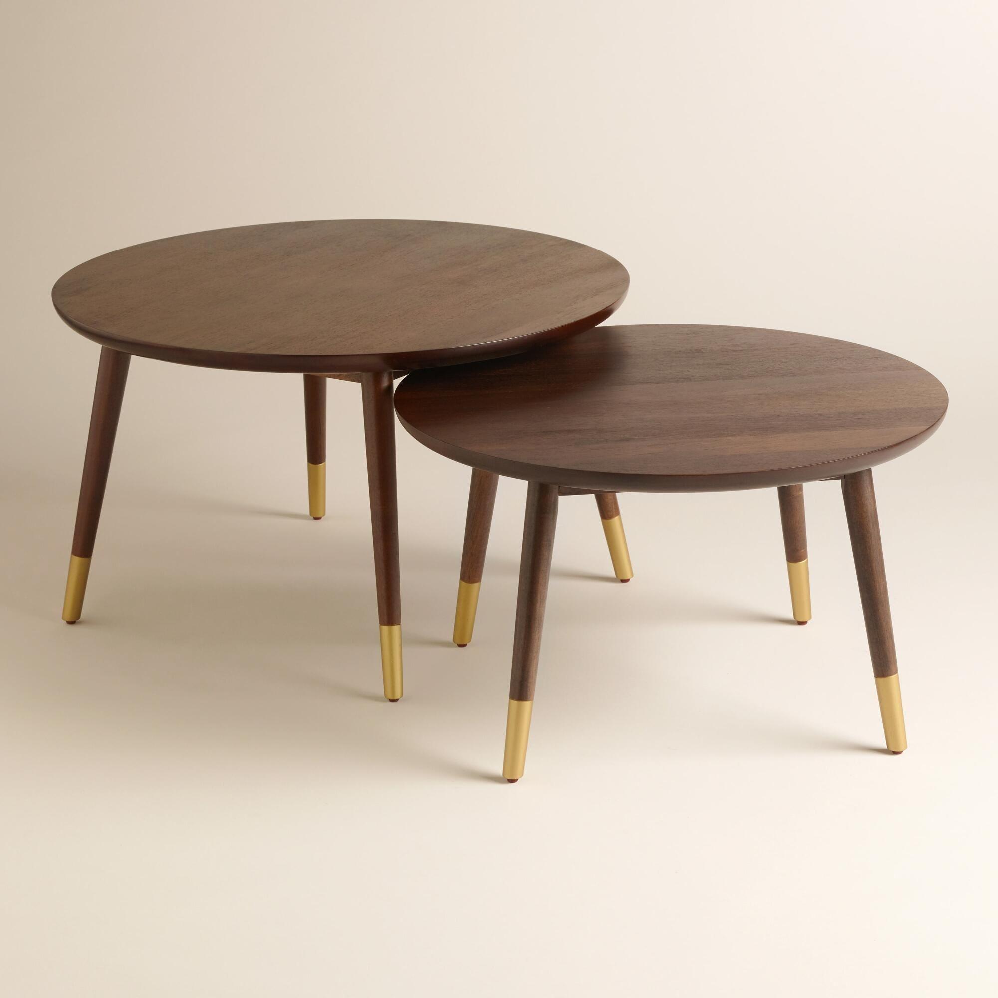 Large Wood Randon Coffee Table Coffee Table Mid Century Modern Coffee Table Nesting Coffee Tables