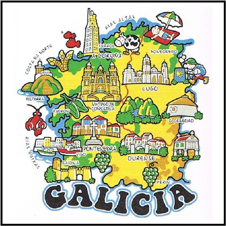 Galicia  mapa nacionalidad paises  Pinterest  Spain Santiago