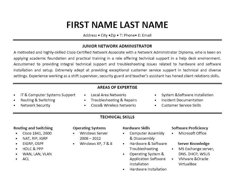 sample resume for o365 admin