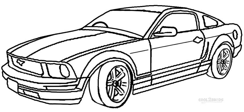 Mustang Coloring Pages Cars Coloring Pages Mustang Drawing