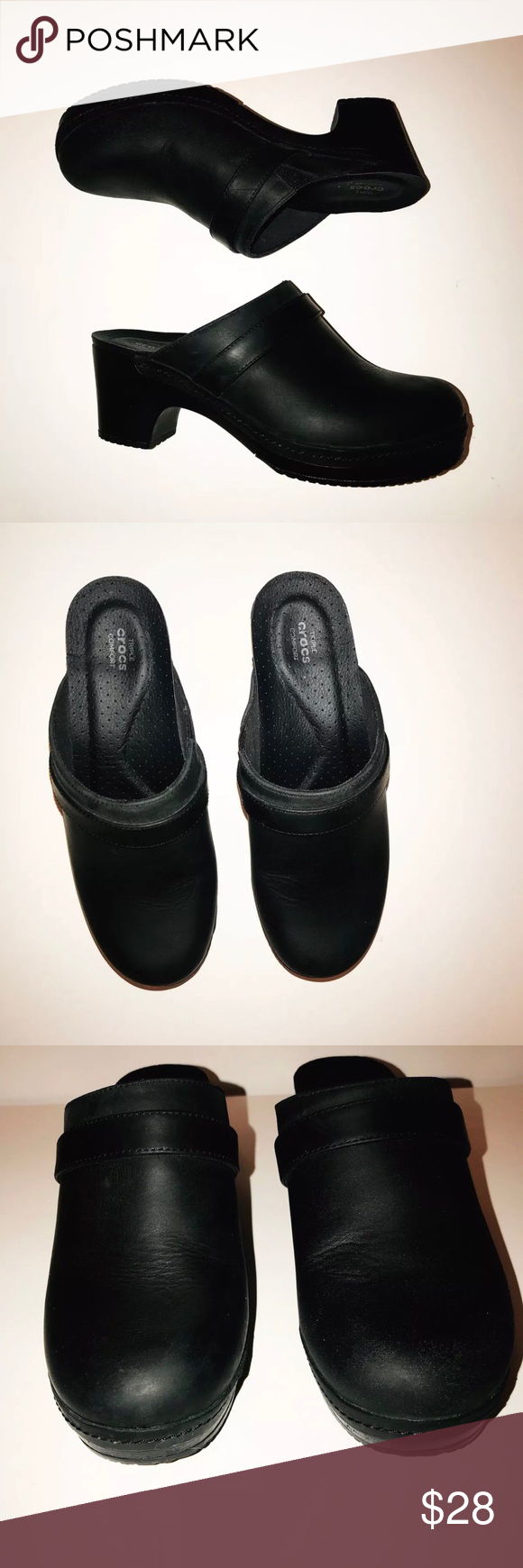 6242fa0994 CROCS Sarah Mule Clogs Nursing Comfort Black Sz W7 Crocs Sarah women's  pre-owned sz W7. **some minor scuffs in the toe area please see pictures CROCS  Shoes ...