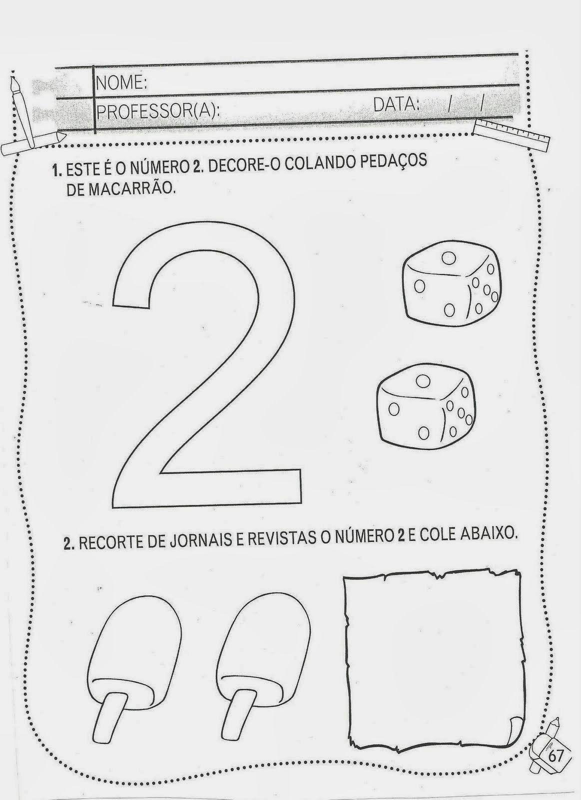 Atividades Com O Numero 2 Com Imagens Atividades Educacao