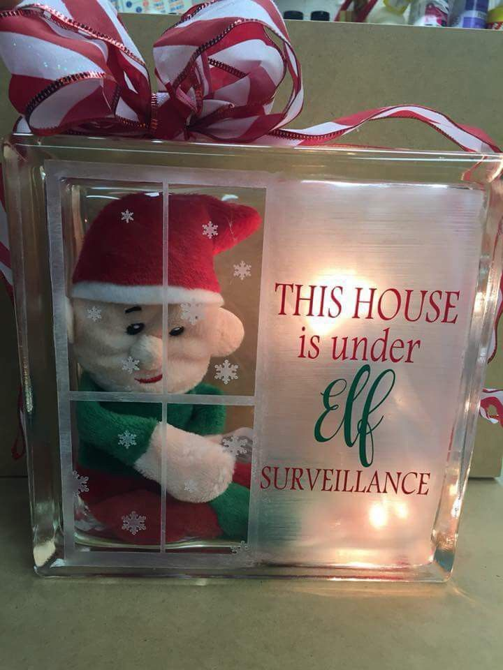 Pin By Emily B On Things To Sell Christmas Glass Blocks