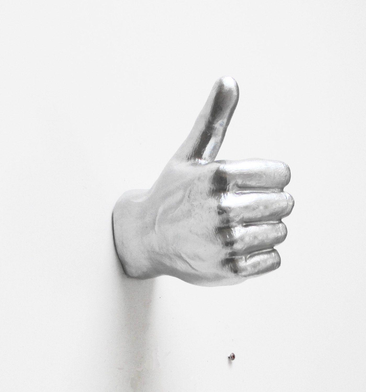 Handy Coat Hangers : hand wall hooks