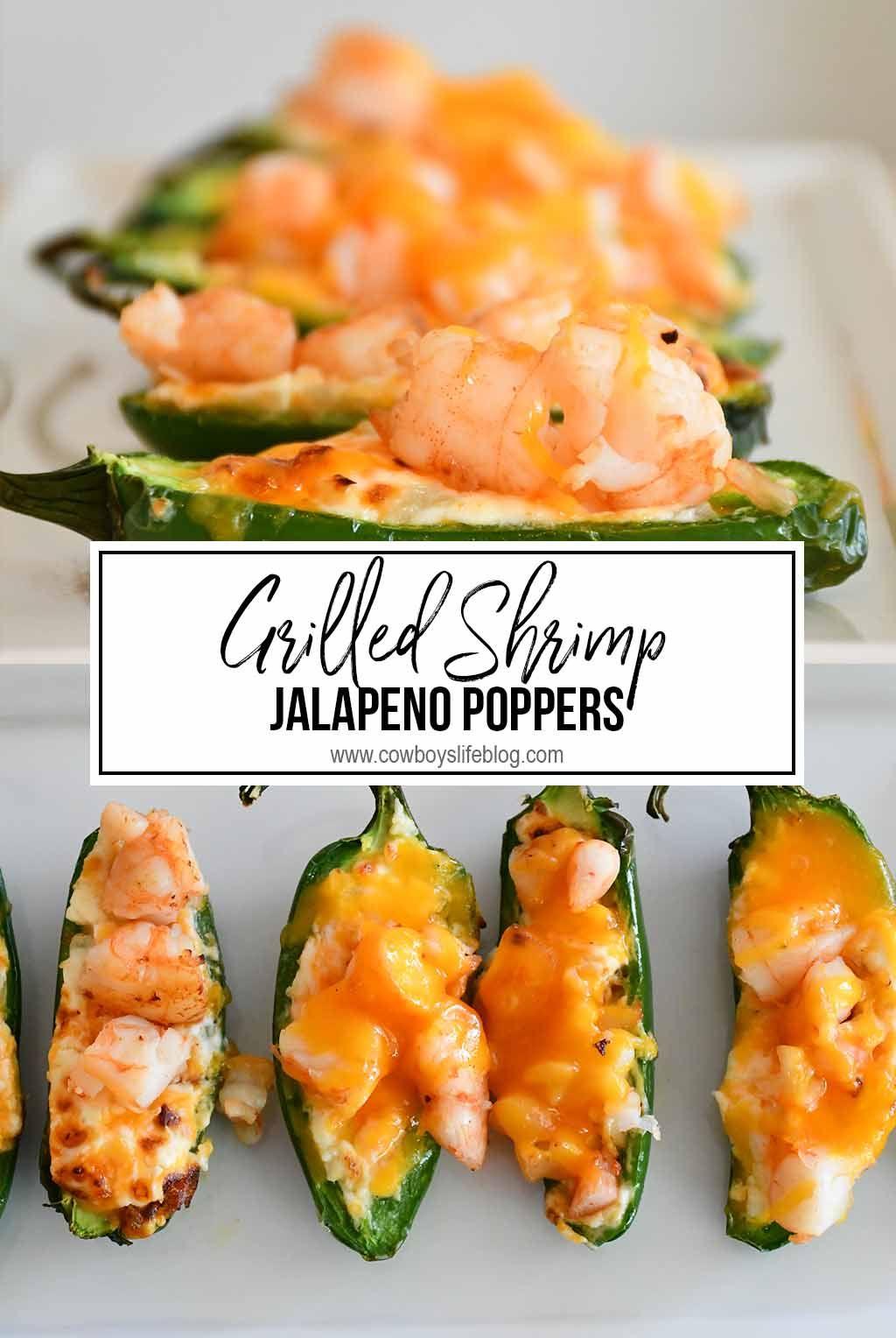 Grilled Shrimp Jalapeño Poppers - A Cowboys Life