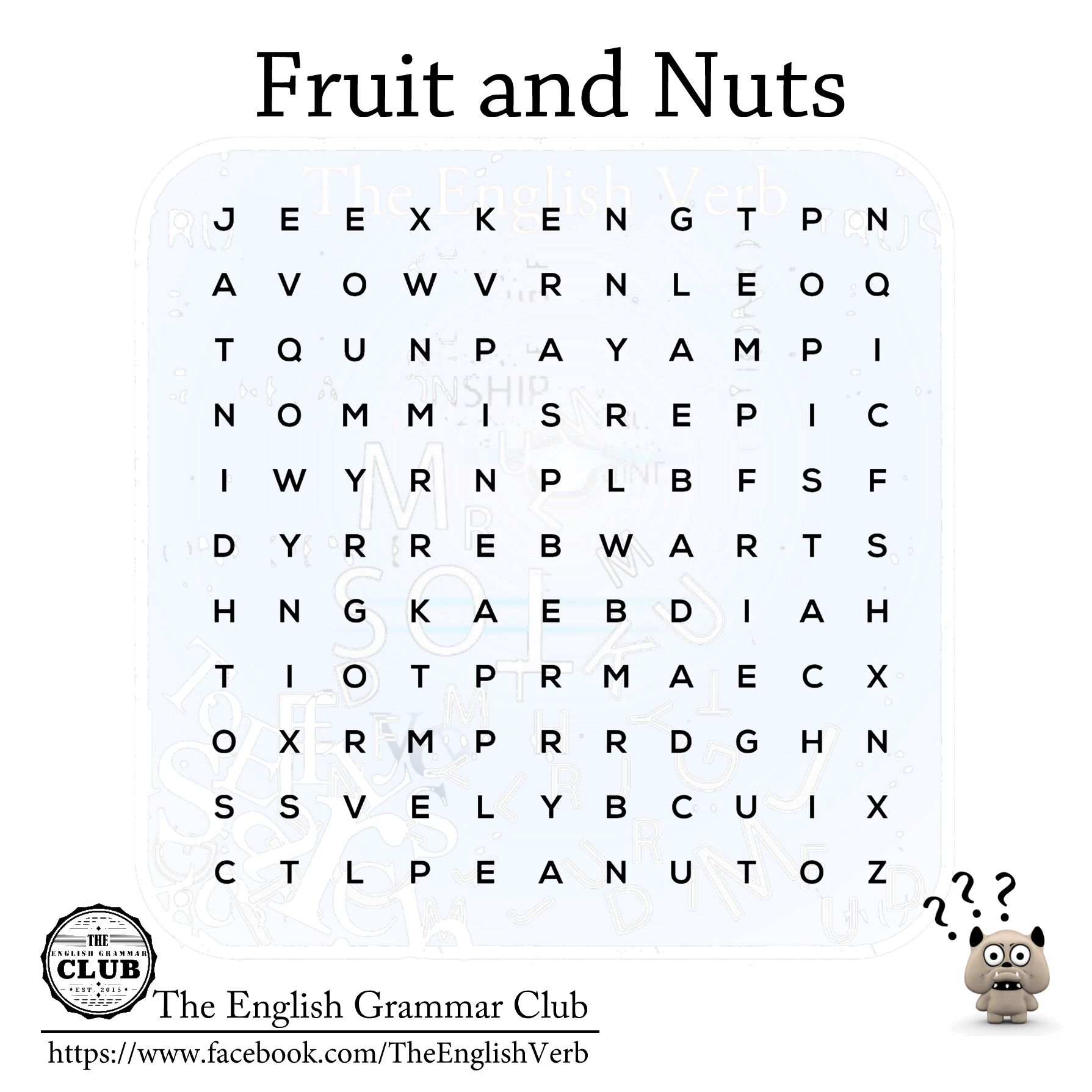can you the jobs esl word search the objective of this fruit and nuts word search