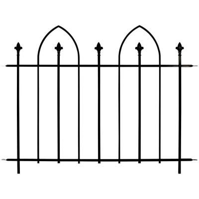 Bristol 36 In H Steel Garden Fence Panel 860084 The Home Depot