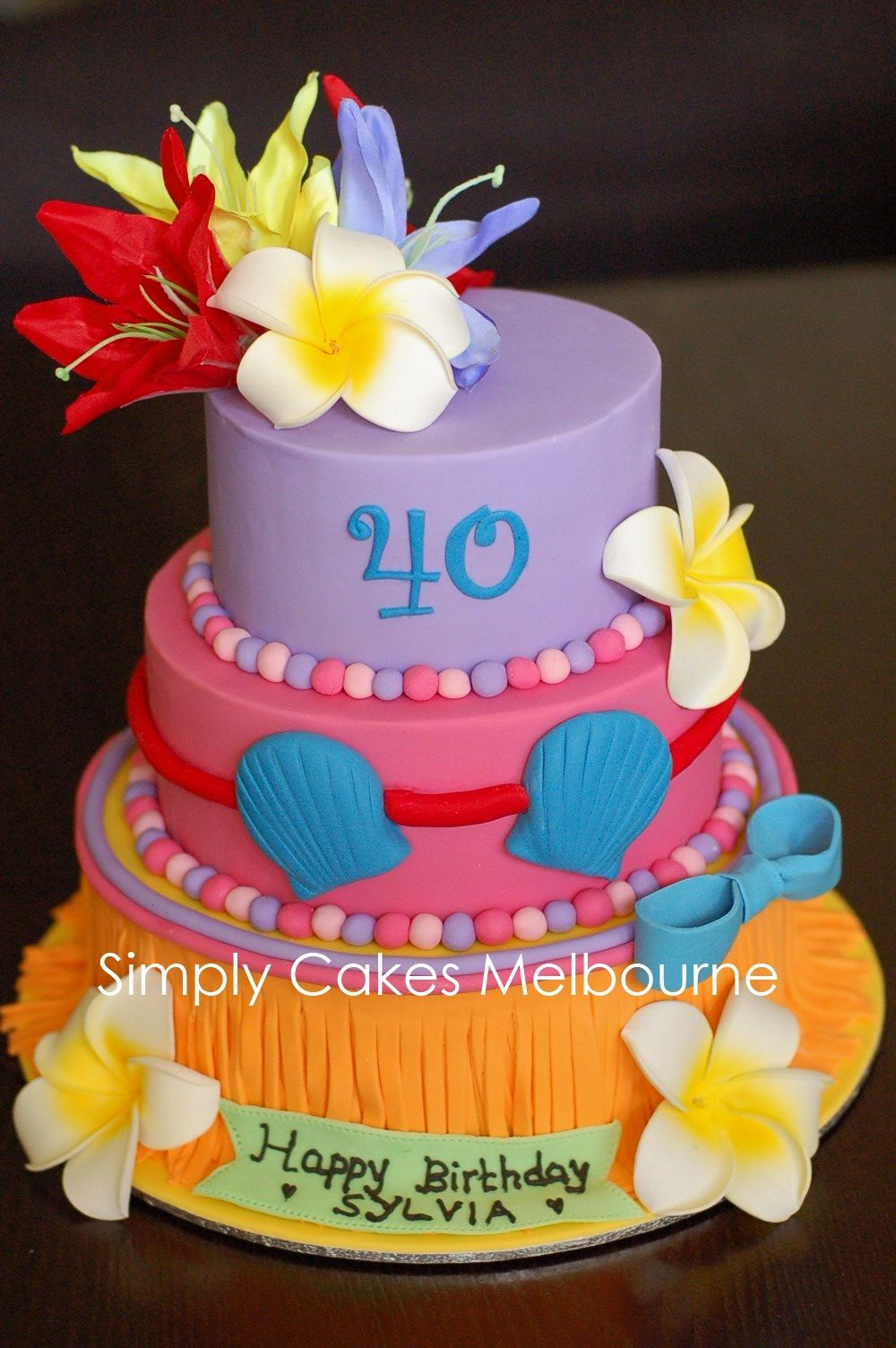 Pleasing Luau Cakes For Adults Hawaiian Luau Birthday Cake Luau Personalised Birthday Cards Cominlily Jamesorg