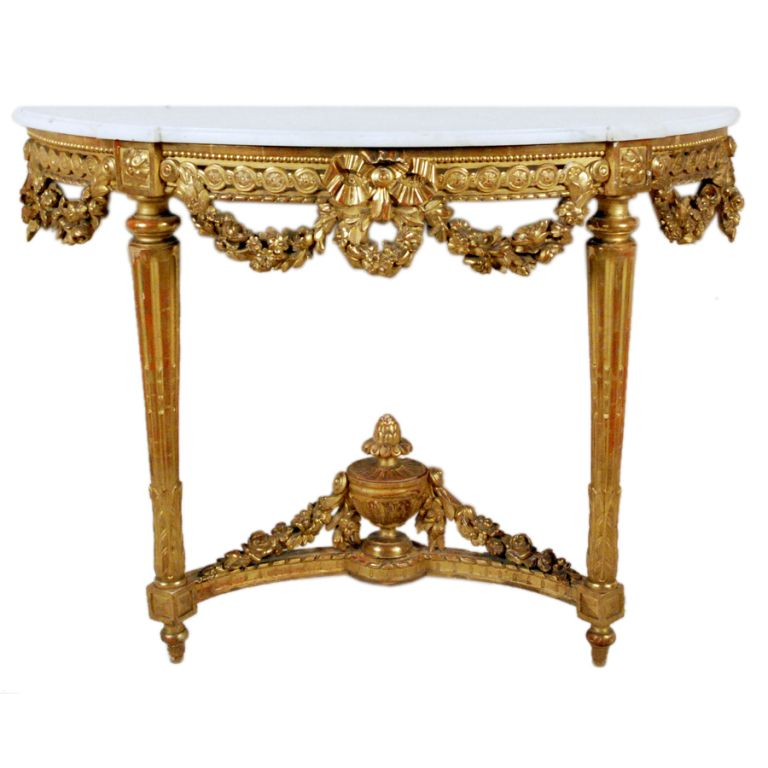 Fine Louis XVI Giltwood Console Table | Consoles, France and ...