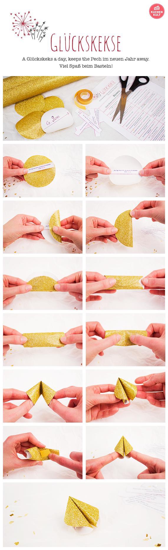 DIY Glückskekse - so einfach kann man sie selber basteln!