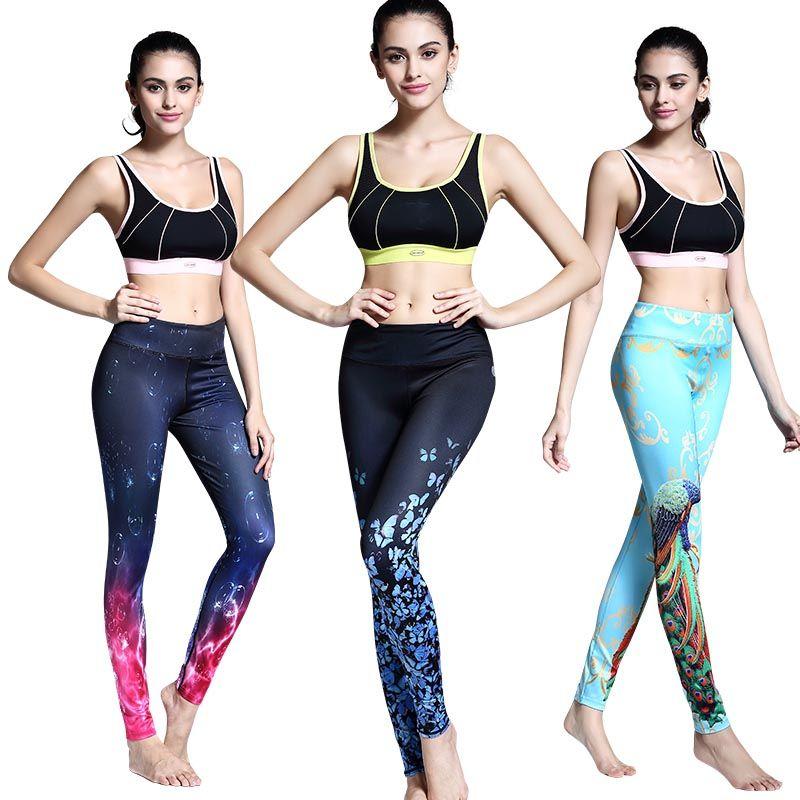 Womens yoga palestra sport leggings compressione correre allenamento fitness calzamaglia gocce d'acqua 3d stampato pantaloni allenamento pantaloni