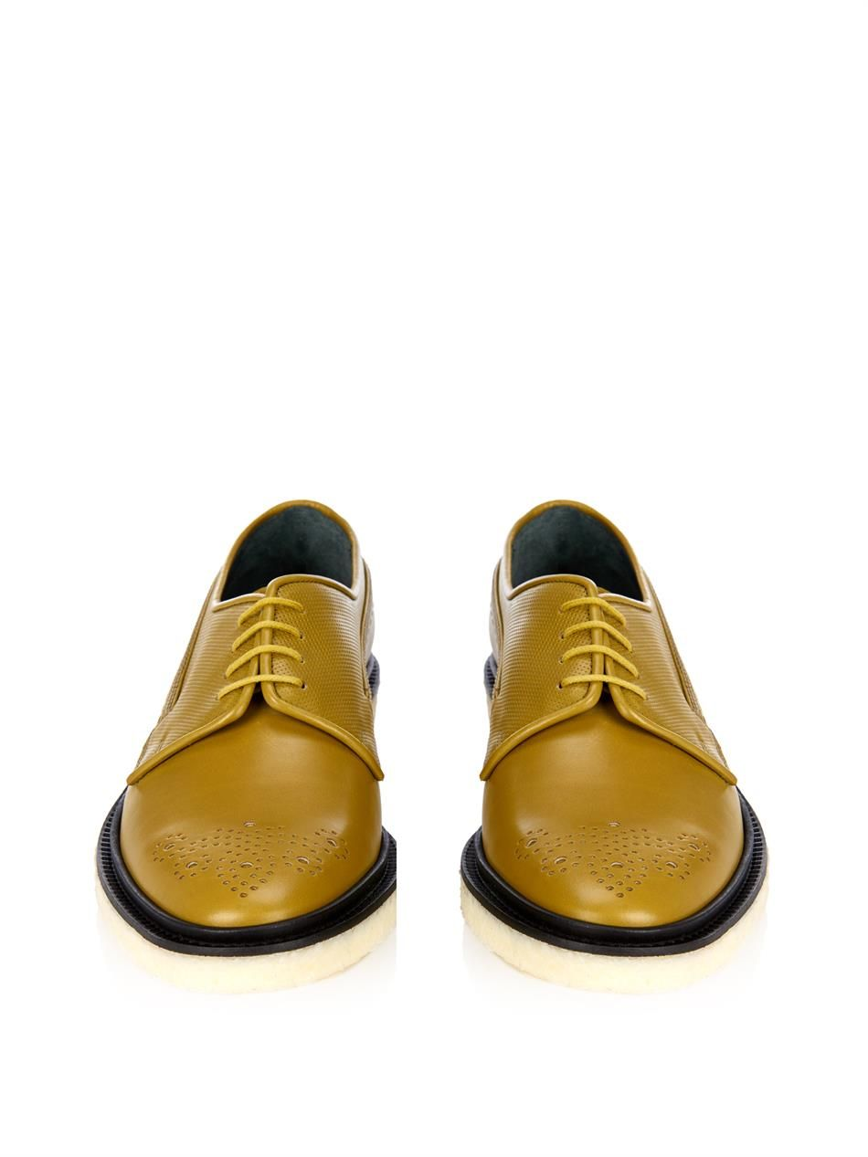 Adieu Tbi-colour leather derby shoes. Marvelous mustard colour. | My ...