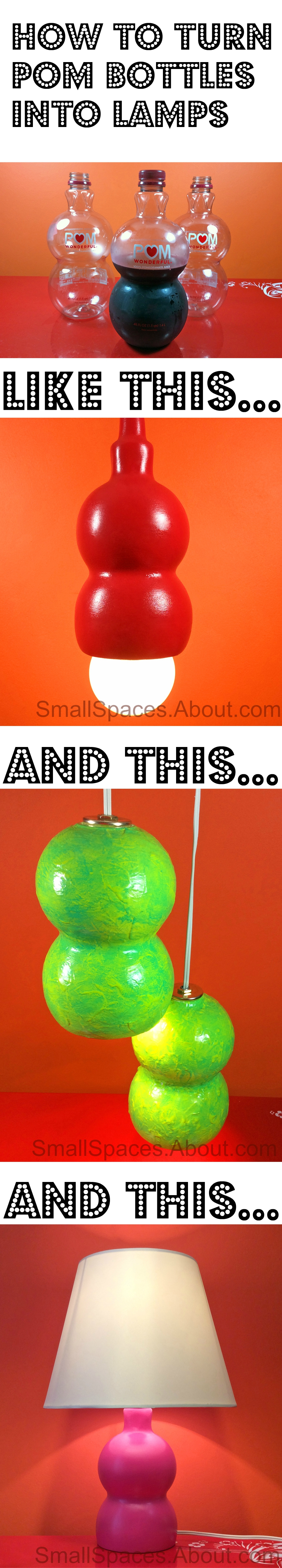 How To Transform A Pom Bottle Into A Midcentury Inspired Hanging