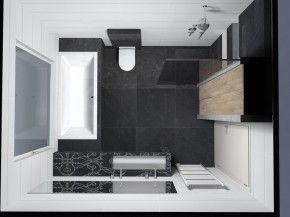 Badkamer idee voor kleine badkamer | Badkamer | Pinterest