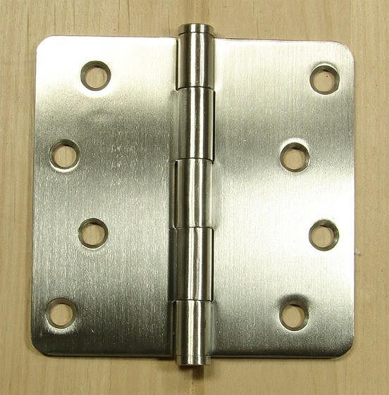 Stainless Steel Hinges Residential Hinges 4 X 4 Plain Bearing With 1 4 Radius Corners Sold In Pa Stainless Steel Hinges Stainless Steel Doors Steel Doors