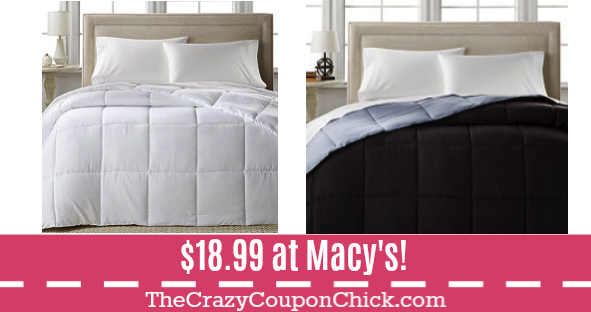 HOT** Home Design Down Alternative Comforters ONLY $18.99 ...