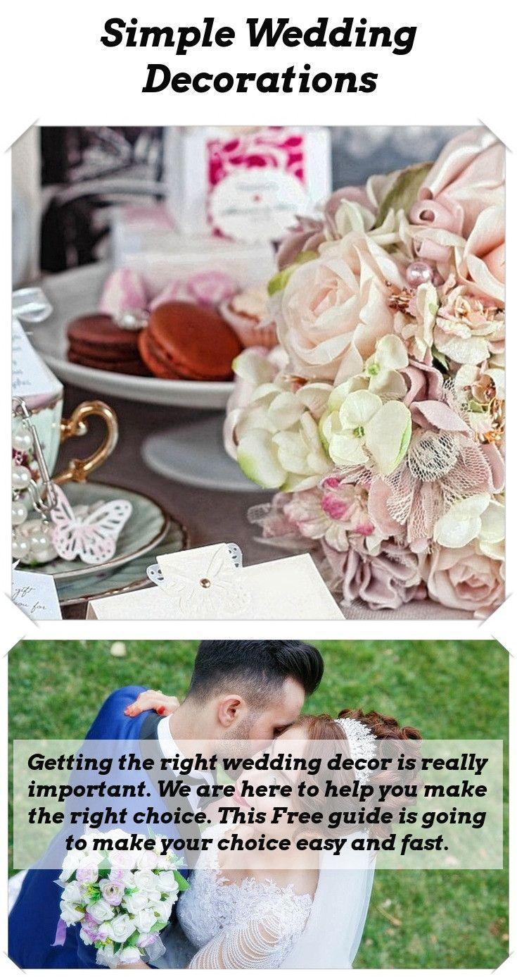 Wedding decorations simple  Decor For Wedding  Pinterest  Romantic weddings Wedding tables