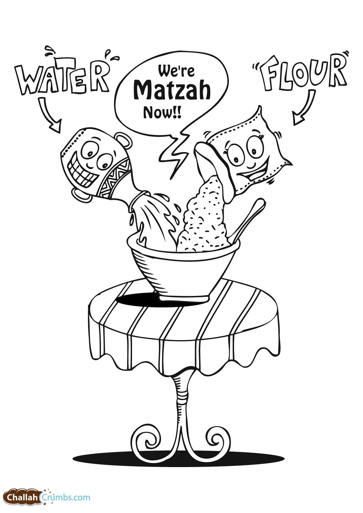 We Re Matza Now Coloring Page